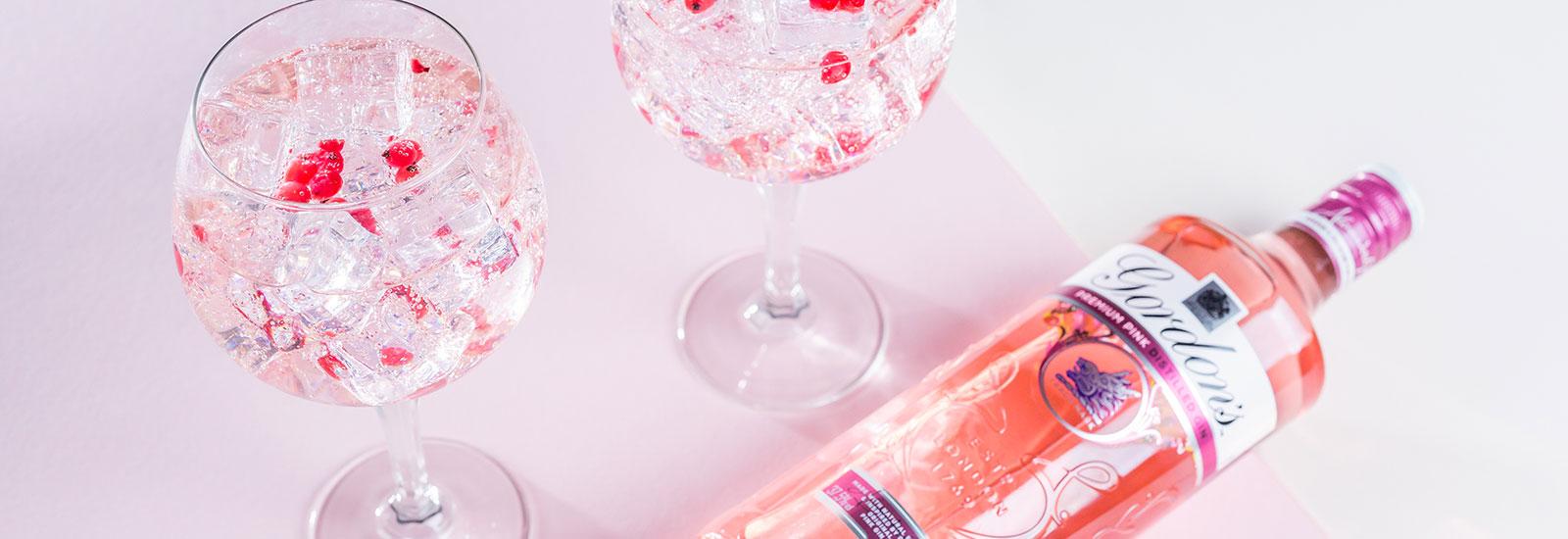 Nieuw: Gordon's Pink Gin, met de natuurlijke zoetheid van frambozen en aardbeien!
